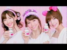 Hythiol B pimple commercials with AKB48 members - in Japanese