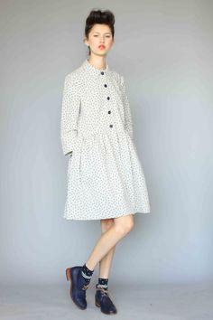 Karen Walker Linen Dot dress coat