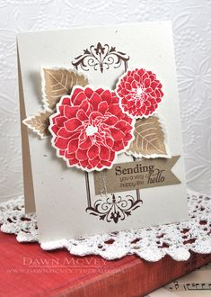 Happy Little Hello Card by Dawn McVey for Papertrey Ink (July 2013)