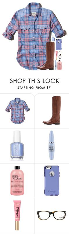 """""""Comment ur fav thing about fall"""" by tropical-girl-xo ❤ liked on Polyvore featuring Abercrombie & Fitch, Madewell, Essie, Maybelline, philosophy, OtterBox and Ray-Ban"""