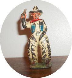 Cowboy in White Firing Six Shooter Barclay Manoil Neat | eBay