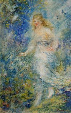 Spring (The Four Seasons) - Renoir Pierre-Auguste