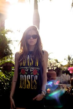 Guns N Roses tee! #festival #fashion