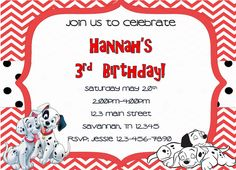 101 Dalmation Birthday Invitations Get these invitations RIGHT NOW