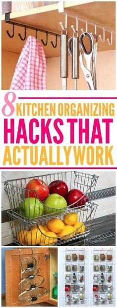 8 kitchen organization hacks are amazing! I'm happy I found these easy house hacks! Now I have some great organization tips! Organisation Hacks, Pot Lid Organization, Organizing Hacks, Lid Organizer, Cleaning Hacks, Kitchen Organization Hacks, Organising, Deep Cleaning, Ana White