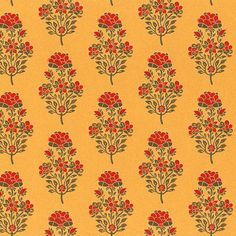 SabyaSachi This wallcovering is inspired from turmeric and red chilles. The bold color itslf reflect it. And India is known for its spices.