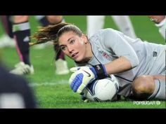 """US Soccer Goalie Hope Solo.  My little 'keeper loves to watch her.  I'm going to show her this.  Love the line """"I let the game come to me""""."""