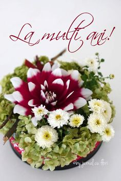 #lamultiani #tortcuflori #cutiecuflori  #ziuadenastere #mesaj Romantic Couple Hug, Romantic Couples, Birthday Wishes, Happy Birthday, Lily, Table Decorations, Flowers, 8 Martie, Minecraft