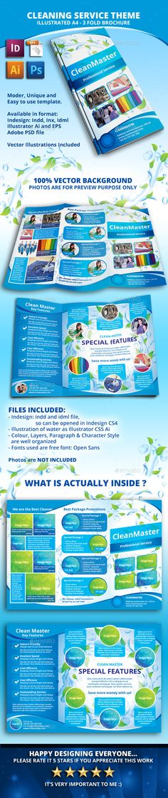 Cleaning Flyer Template V3 Flyer template - cleaning brochure template