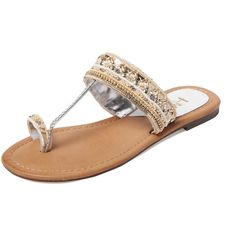 da11889a057360 MIA Heritage MIA Heritage Women s India Beaded Toe-Loop Sandal - White.