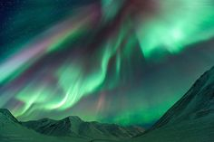 Aurora Borealis - Atigun Pass, Dalton Highway Alaska