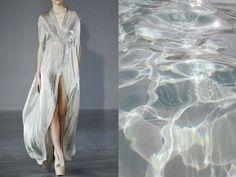 Iris van Herpen Fall 2014 & Water surface. Collage by Liliya Hudyakova.