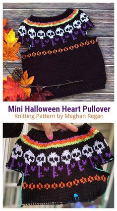 Halloween Knitting Patterns Free, Halloween Crochet, Sweater Knitting Patterns, Free Knitting, Diy Crochet, Crochet Top, Crochet Hats, Hoodie Pattern, Halloween Trick Or Treat