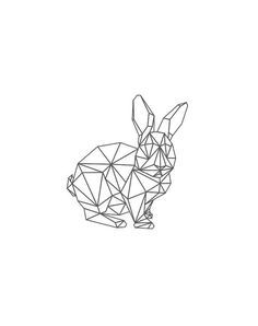Geometric RabbitBlack Rabbit Rabbit Black and White What is Decoration? Decoration may be the art of decorating the interior and … Bunny Tattoos, Rabbit Tattoos, Geometric Designs, Geometric Shapes, Geometric Artwork, Geometric Animal, Boli 3d, Hase Tattoos, 12 Chinese Zodiac Signs