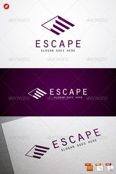 """The stairs come with negative space marked as """"E"""". This logo suitable for universal purpose (company, institution). Highly made for those who need, Illustrative, Memorable, Editable, Simple and Versatile logo. • Available here → http://graphicriver.net/item/escape-logo/2384557?s_rank=165&ref=pxcr"""