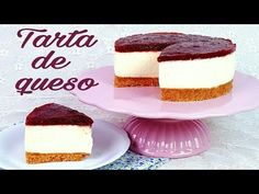 Tarta de queso con mermelada de fresa | Postre sin horno | Mi tarta preferida - YouTube