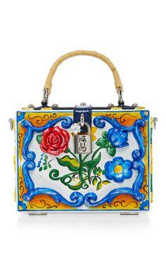 Maiolica Tile Bag  by DOLCE & GABBANA Now Available on Moda Operandi