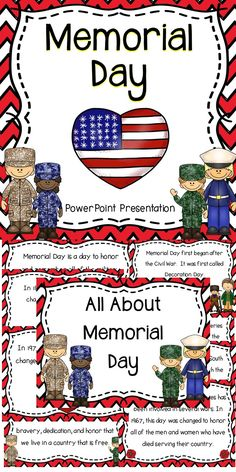 Teach your students the importance of Memorial Day with this fun and engaging educational resource! Teaching Materials, Teaching Resources, Teaching Ideas, Powerpoint Lesson, Fourth Grade, Second Grade, Special Education, Memorial Day, Social Studies