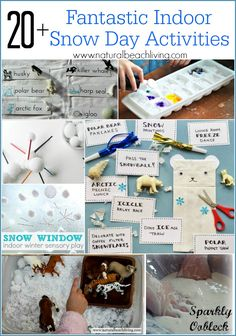 Fantastic Indoor Snow Day Activities, hands on learning, sensory play, STEM, free printables and so much more fun for kids Indoor Activities For Adults, Group Games For Kids, Winter Activities For Kids, Christmas Activities, Crafts For Kids, Seasons Activities, Toddler Activities, Preschool Activities, Therapy Activities