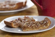 Pecan pie lovers, rejoice! Now you can get your favorite taste in bar cookie form. That's right, these little wonders taste just like bite-sized pecan pies!