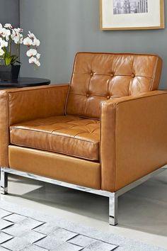 Loft Genuine Leather Armchair - Tan by Modway on @HauteLook