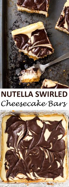 Swirled Cheesecake Bars Rich and Creamy Nutella Swirled Cheesecake Bars. Layered with a buttery graham…Rich and Creamy Nutella Swirled Cheesecake Bars. Layered with a buttery graham… Nutella Cheesecake, Cheesecake Bars, Cheesecake Recipes, Dessert Recipes, Nutella Cake, Yummy Treats, Sweet Treats, Brownies, Nutella Recipes