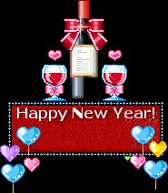 Animated blinking bottle of wine and glasses, Happy New Year moving picture New Years Party, New Years Eve, Happy New Year Animation, New Year Clipart, Happy New Year Fireworks, Happy Evening, Happy New Year Everyone, Party Banners, Merry Christmas And Happy New Year