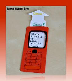 A phone card for daddy Phone Card, Papi, Fun Activities For Kids, Mother And Father, Interactive Notebooks, Fathers Day, Cardmaking, Diy And Crafts, Kindergarten