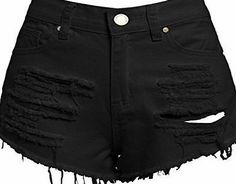 SS7 New Womens High Waisted Ripped Shorts, Black, White, Sizes 6 to 14 (UK - 14, Black) No description (Barcode EAN = 3793598836447). http://www.comparestoreprices.co.uk/december-2016-week-1/ss7-new-womens-high-waisted-ripped-shorts-black-white-sizes-6-to-14-uk--14-black-.asp