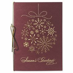 Laser Flakey Ornament Holiday | Ornament Christmas Cards | Deluxe