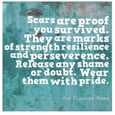 Grief, Gratitude, and Grace: On Chronic Illness...Scars are proof you survived. They are marks of strength, resilience, and perseverance. Release any shame or doubt. Wear them with pride. #newblogpost #clicklinkinbio #gratitude and #grace #oneflawsomemomma #pride #chronicillness #ulcerativecolitis #ileostomy #noshame ##resilience #strength #positivemindset #inspirational blog #inspirationalquotes #inspiration #scars #flawsome #momblog #momblogger #singlemom #workingmom