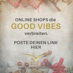 """Lasst uns kleine Shops unterstützen. Es gibt so viele, die tolle Produkte anbieten und speziell in Zeiten wie diesen ist es umso wichtiger bei """"kleinen"""" Händlern einzukaufen. Online ist das auch jetzt möglich. Also, wir freuen uns, wenn du deinen good vibes Shop hier postest, oder den eine*r Freund*in... Zeig dich! Wir schreiben dann auch einen Blogbeitrag und einen Newsletter mit all den Shops, die hier aufgelistet werden. 💛LET´s spread GOOD VIBES 💛 www.vibratingmusic.com Online Shops, Interview, Cover, Books, Movie Posters, Chakras, Writing, Shopping, Products"""