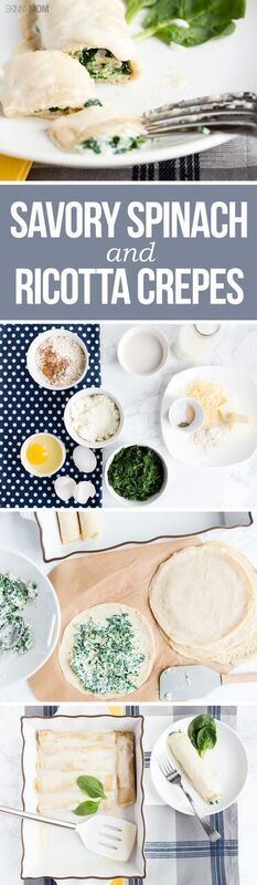 Savory Spinach and Ricotta Crepes- For a protein-packed and filling breakfast, you must try this recipe!