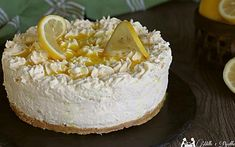 Cheesecake chantilly al limone Cheesecake, Vanilla Cake, Camembert Cheese, Grains, Dairy, Desserts, Food, Italian Recipes, Dinner