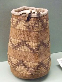 Twined bag from Columbia Basin.  Maryhill Museum of Art