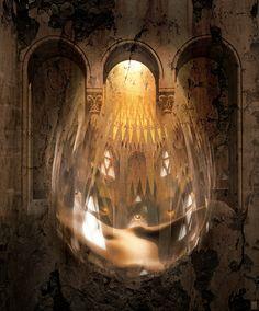 Gaudi Through a Digital Prism #interdema #photography #art #exhibition #Vedrenko #Minsk #арт #фотография