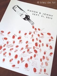 Celebrate with vino: The guestbook perfect for your vineyard wedding!