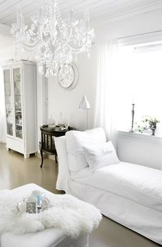 Classy white. Maybe one room someday.