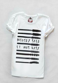 Tshirt with mascara Yeah Bunny by YeahBunny on Etsy, z70.00 #friki #hipster #camiseta #camisetaes