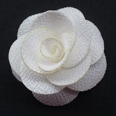 DANDAN 8PCS Ribbon Flowers Bows Appliques Craft Wedding Deco Mix Large 6CM (White) *** Learn more by visiting the image link.