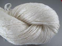 StickChick Etsy:  FINGERING Silk Linen Undyed Yarn, 2 Ply (lace weight?) $27/100g