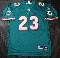 41f1a2e3d819 Men s Vintage Miami Dolphin Football NFL Mesh Jersey Brown  23 Shirt SZ XL  Green