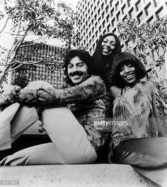Photo of Dawn and Tony ORLANDO and Telma HOPKINS and Joyce VINCENT Posed group portrait Tony Orlando Telma Hopkins and Joyce Vincent