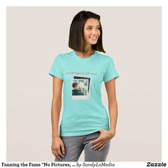 """Fanning the Fame """"No Pictures, Please"""" T-Shirt  #fanningthefame #bookmerch #bookishmerch #nopicturesplease #tshirt #dreamcatchers #sandylomedia Danny D, Shop Fans, Polaroid Photos, Dreamcatchers, American Apparel, Shop Now, Celebrities, T Shirt, Pictures"""