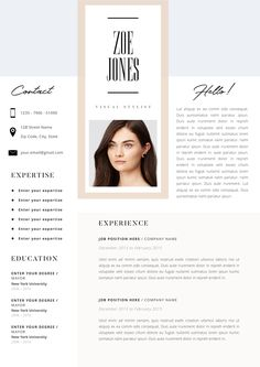 Resume Template, Modern Resume, Resume for Word, CV Template, Cover Letter, Resume Instant Download, Minimalist Professional Resume Design  This is just what you need to freshen up that old resume! Creative and stylish while still being professional, you're guaranteed to stand out with this beautiful resume template.  #resumes #cv #job #career #ladyboss #femmepower