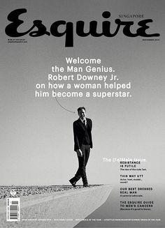 Esquire Singapur: Auch die zweite beachtenswerte Titelseite dieser Woche kommt aus Asien. Die Esquire-Ausgabe aus Singapur macht mit Robert Downey jr. auf. In der Story geht es allerdings um die Frau, die hinter ihm steht.