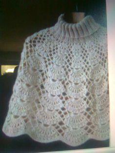 Crochet Eyes, Crochet Collar, Crochet Poncho, Crochet Scarves, Crochet Clothes, Crochet Lace, Ladies Poncho, Crochet Stitches Patterns, Crochet Magazine
