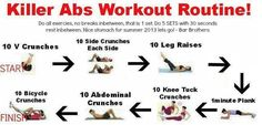 Killer Abs Workout Routine #workout #health #exercise #fitness #abs #absworkout