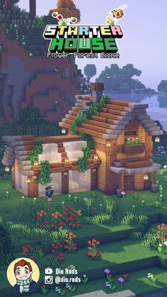 Plans Minecraft, Minecraft Mansion, Minecraft Houses Survival, Easy Minecraft Houses, Minecraft House Tutorials, Minecraft House Designs, Minecraft Decorations, Amazing Minecraft, Minecraft Tutorial