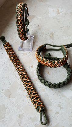 Paracord bracelet Cobraknot stitched Paracord Bracelet Designs, Bracelet Crafts, Paracord Bracelets, Beaded Bracelets, Paracord Braids, Paracord Knots, Paracord Tutorial, Bracelet Tutorial, Rope Crafts